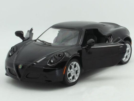 Gray / Black / White / Red 1:36 Diecast 2013 Alfa Romeo 4C Toy