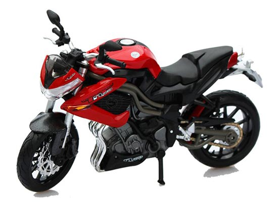 Black-Red 1:12 Scale Benelli Tornado Naked Tre R160 Motorcycle