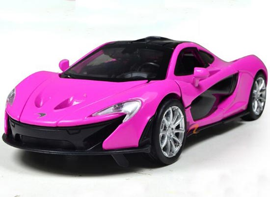 Yellow Green Pink 1 32 Scale Diecast Mclaren P1 Toy