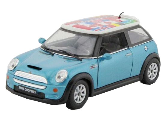 Blue / Red / Yellow / Gray 1:36 Scale Diecast Mini Cooper S Toy