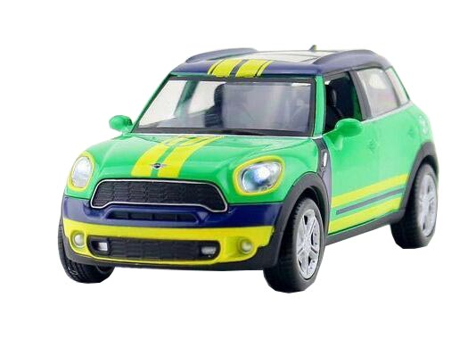 Green 1:32 Scale FIFA World Cup Brazil Diecast Mini Cooper Toy