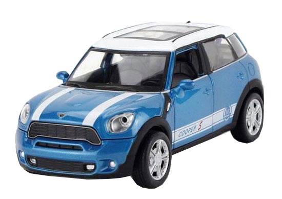 Kids Brown / Blue / Yellow / Red 1:32 Diecast Mini Cooper Toy