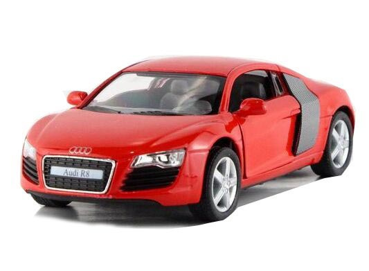 Blue / Silver / Red / Gray 1:36 Scale Kids Diecast Audi R8 Toy