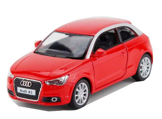 White / Blue / Gray / Red Kids 1:36 Scale Diecast Audi A1 Toy