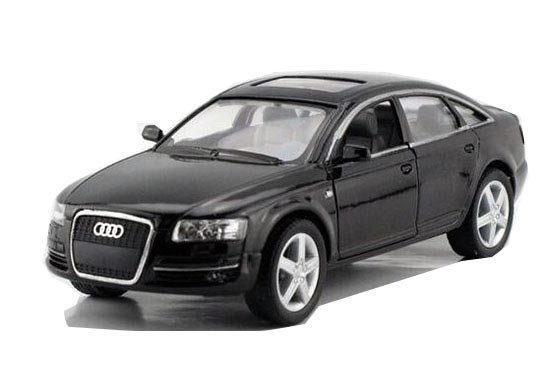Kids 1:36 Scale Black / Red / Silver / Blue Diecast Audi A6 Toy
