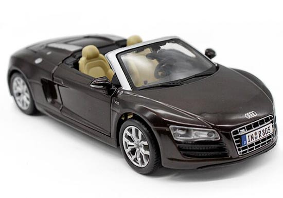 Brown / White 1:24 Scale Maisto Diecast Audi R8 Spyder Model