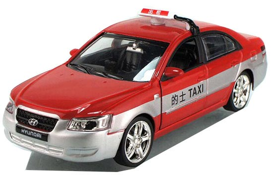 Blue / Red / Yellow 1:32 Scale Kids Hyundai Sonata Taxi Toy