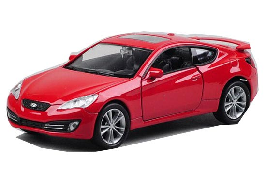 Red 1:36 Scale Kids Welly Diecast Hyundai Genesis Coupe Toy