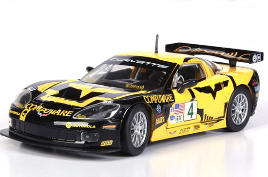 Yellow 1:24 Scale Bburago Diecast Chevrolet Corvette C6R Model