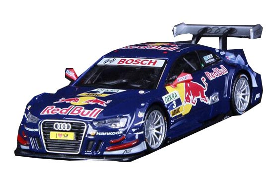 Blue / Yellow 1:32 Scale Bburago Diecast Audi A5 DTM Model