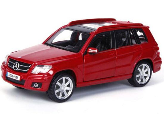 Red Silver 1 32 Bburago Mercedes Benz Glk 350 Suv Model