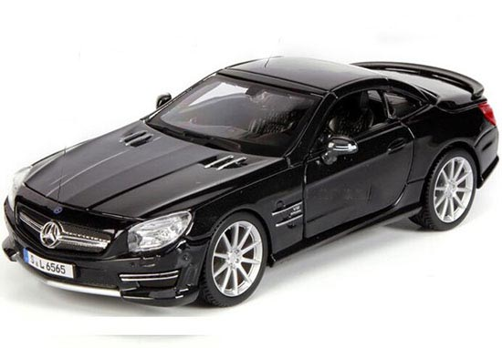 Black 1:24 Bburago Diecast Mercedes-Benz SL 65 AMG Model