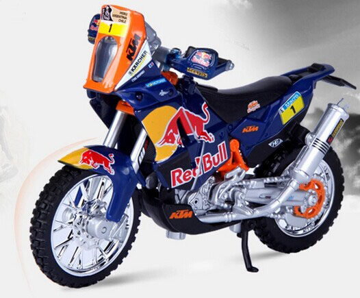 Blue 1 18 bburago diecast ktm 450 rally motorcycle model for Decoration ktm