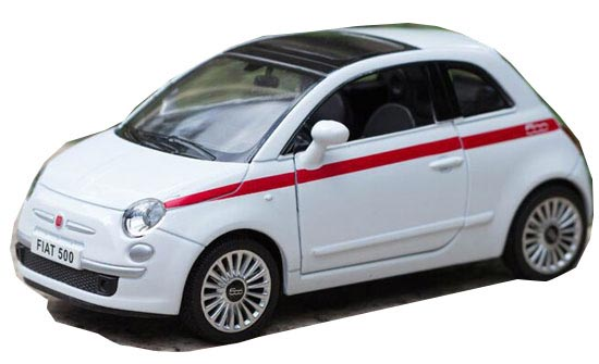 Kids Black / White /Red /Yellow 1:36 Scale Diecast FIAT 500 Toy