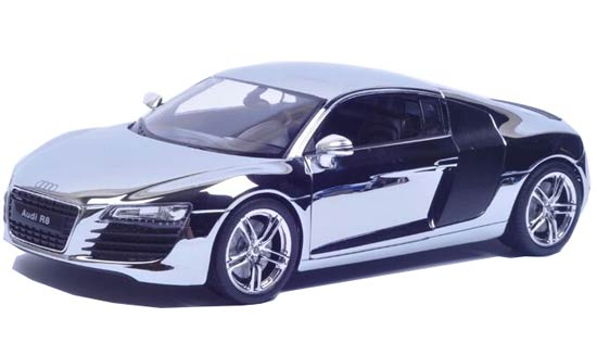 Silver 1:24 Scale Welly Souvenir Edition Diecast Audi R8 Model