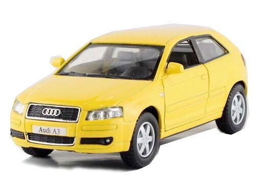Kids Gray / Blue / Red / Yellow 1:36 Scale Diecast Audi A3 Toy