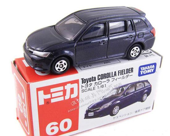 Kids Deep Blue 1:61 Scale TOMY NO.60 Diecast Toyota Corolla Toy