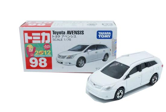 White 1:75 Scale Kids TOMY NO.98 Diecast Toyota AVENSIS Toy