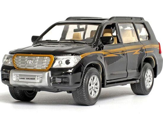 White / Black / Green 1:32 Kids Diecast Toyota Land Cruiser Toy