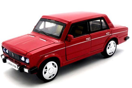 Kids 1:32 Scale White / Black / Blue / Red Diecast Lada Toy