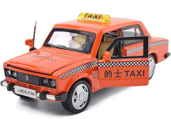 Orange / Blue / Red / Yellow 1:32 Kids Diecast Lada Taxi Toy