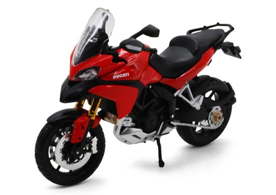 White / Red 1:12 Scale Maisto Diecast Ducati Multistrada 1200S
