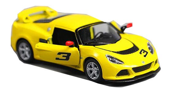 White / Black / Red /Yellow 1:36 Kids Diecast Lotus Exige S Toy
