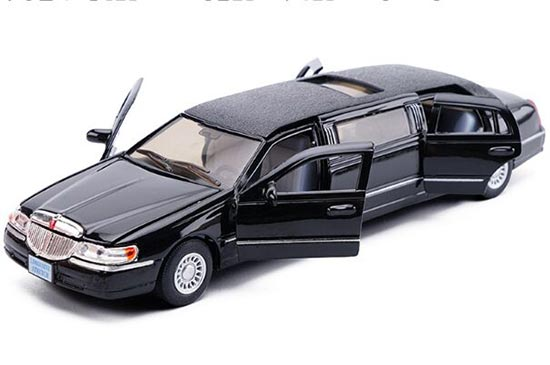White / Black /Champagne Kid 1:38 Diecast Lincoln Limousine Toy