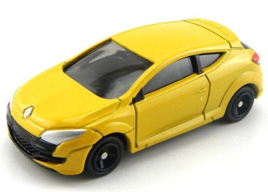 Black / Yellow Mini TOMY NO. 44 Diecast Renault Megane RS Toy