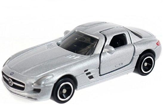 Kids Silver 1:65 Scale TOMY NO.91 Mercedes-Benz SLS AMG Toy