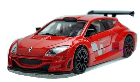 Kids 1:32 Yellow / White / Blue /Red Diecast Renault Megane Toy