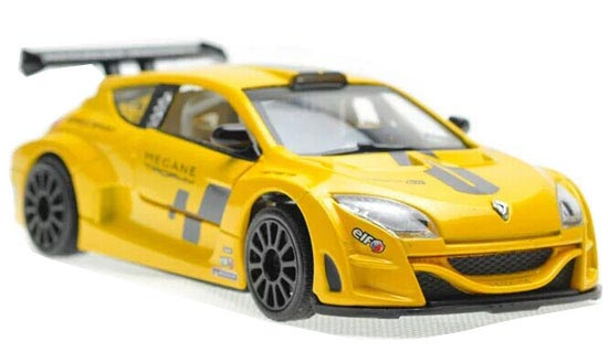 Kids Yellow 1:32 Scale Diecast Renault Megane Sport Car Toy