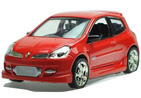 Kids 1:32 Scale Yellow / Red / Blue Diecast Renault CLIO Toy