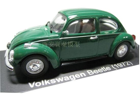 Green 1:43 Scale IXO Diecast 1972 Volkswagen Beetle Model