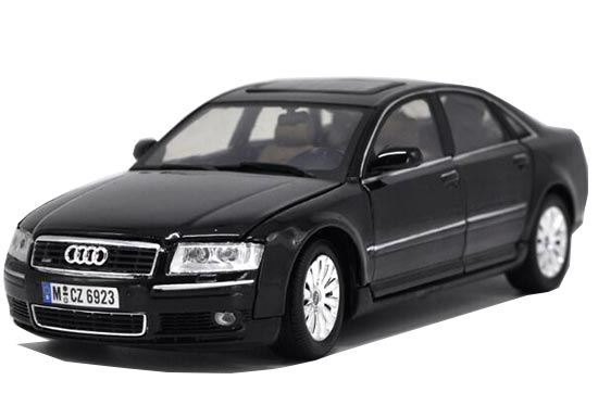 Black / Silver / Blue 1:18 Scale Diecast Audi A8 Model
