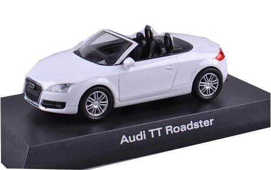 White 1:64 Scale KYOSHO Diecast Audi TT Roadster Model