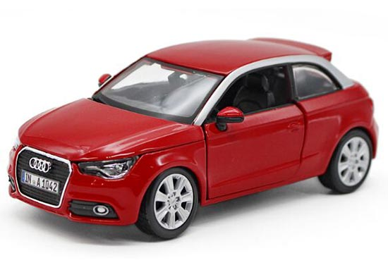 1:24 Scale Red / Black Bburago Diecast Audi A1 Model