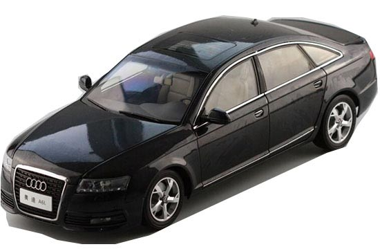 Black-Blue 1:18 Scale FAW Diecast Audi A6L Model