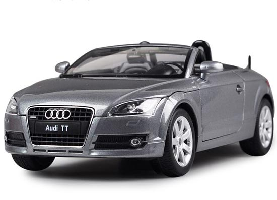Yellow / Gray / White 1:18 Scale Welly Diecast Audi TT Model