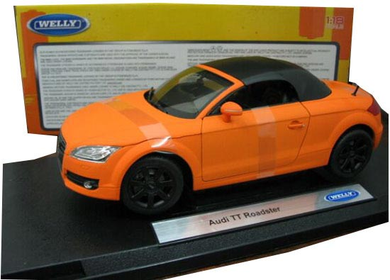 Orange 1:18 Scale Welly Diecast Audi TT Model