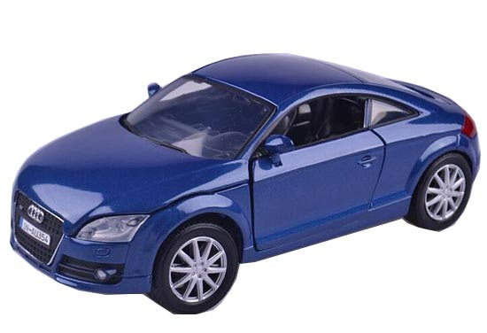 Blue / Silver 1:24 Scale MotorMax Diecast Audi TT Coupe Model