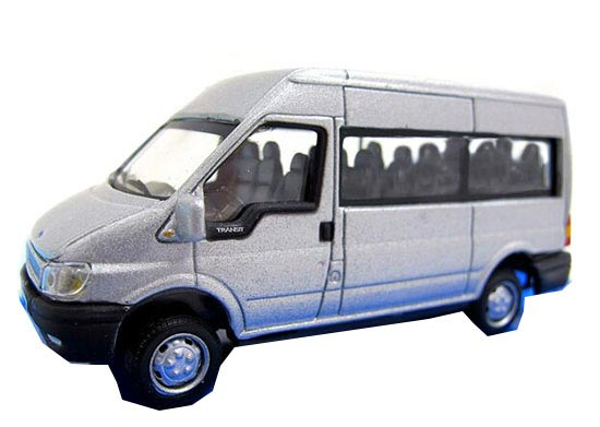 Silver 1:72 Scale Cararama Diecast Ford Transit Model