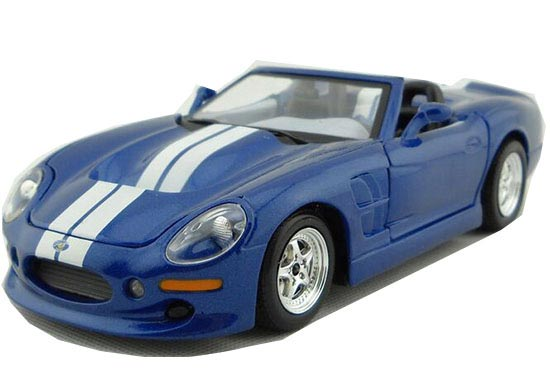 White-Blue 1:24 MaiSto Diecast 1999 Ford Shelby Series One Model