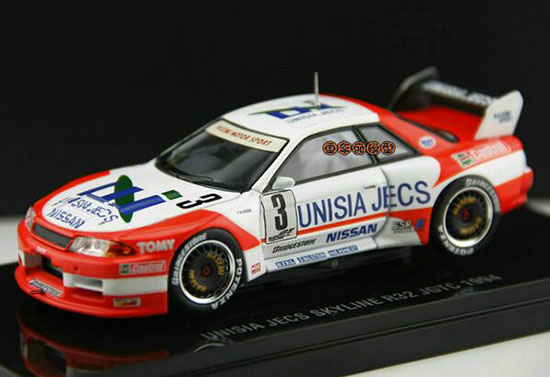 1:43 Scale Colorful Die-Cast Nissan SKYLINE R32 JGTC 1994 Model