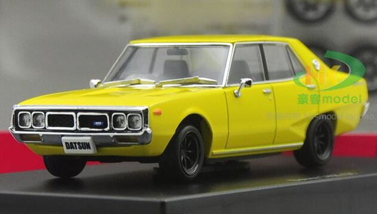 Yellow 1:43 Scale Die-Cast Nissan Datsun 240K GT Model