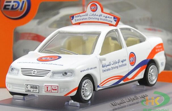 White 1:43 Scale Die-Cast Nissan UAE Taxi Car Model