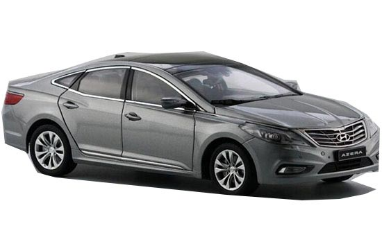 White / Gray 1:18 Scale Diecast HYUNDAI Azera Model