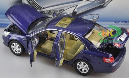 White Silver Blue 1 18 Scale Diecast Hyundai Sonata