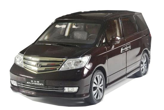 Brown / White 1:18 Scale Diecast Honda ELYSION Model