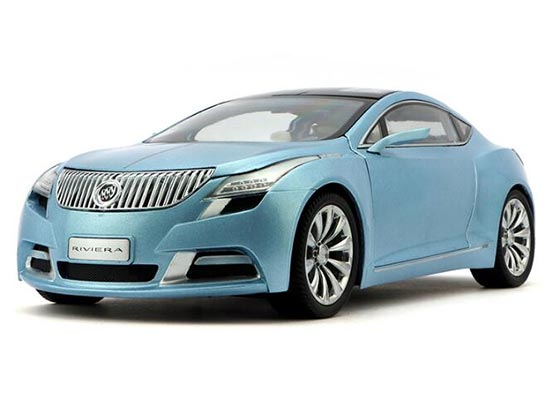 1:18 Scale Light Blue Die-Cast Buick Riviera Model